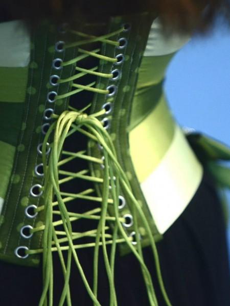 Ribbon corset Green Lines