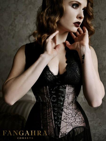 """Black-pink lingerie corset """"Noir"""""""