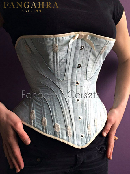 Blue victorian corset