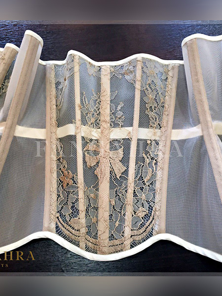 "Transparent corset ""Bow"""