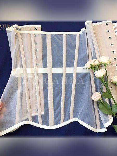 Transparent lingerie corset