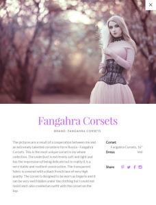 Absentia Veil about Fangahra Corsets
